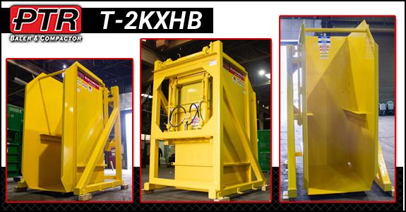 baler, compactor, cart tipper, cart dumper, sustainability, manufacturing, ptr