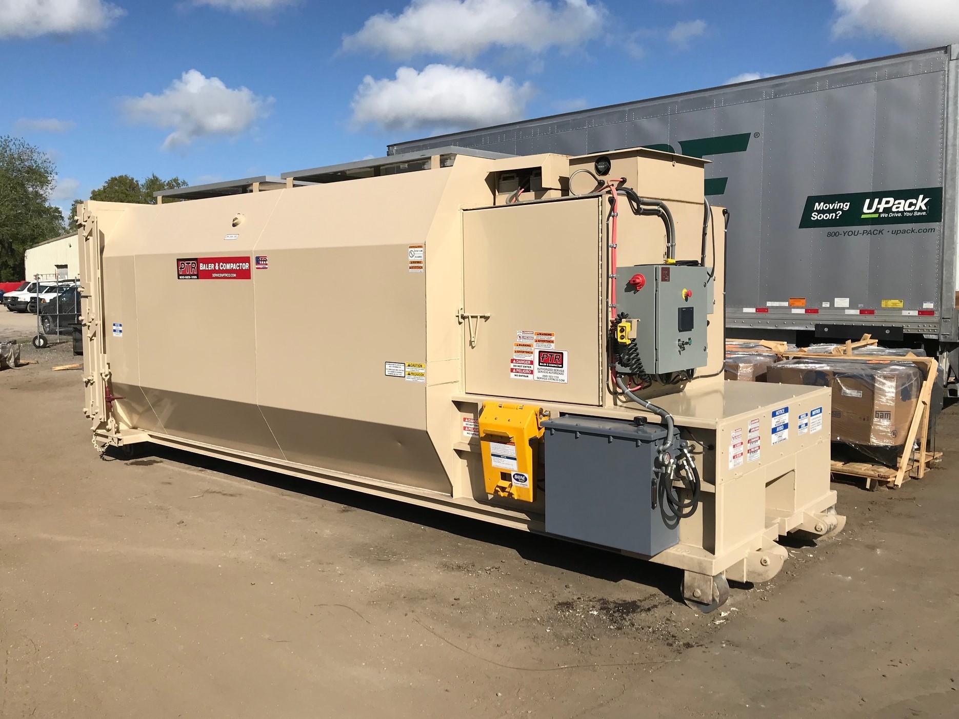 solar power, solar energy, baler, compactor, waste compactor, recycling baler