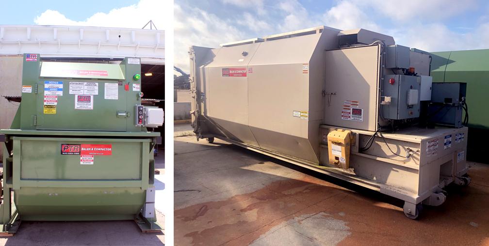 solar power, solar energy, trash compactor, waste compactor, ptr baler, recycling baler, waste diversion